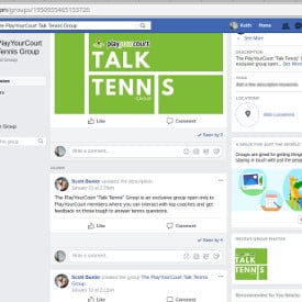 talk tennis facebook group