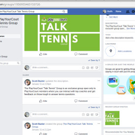 talk tennis facebook group